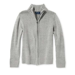 Boys Uniform Zip Up Mock Neck Sweater